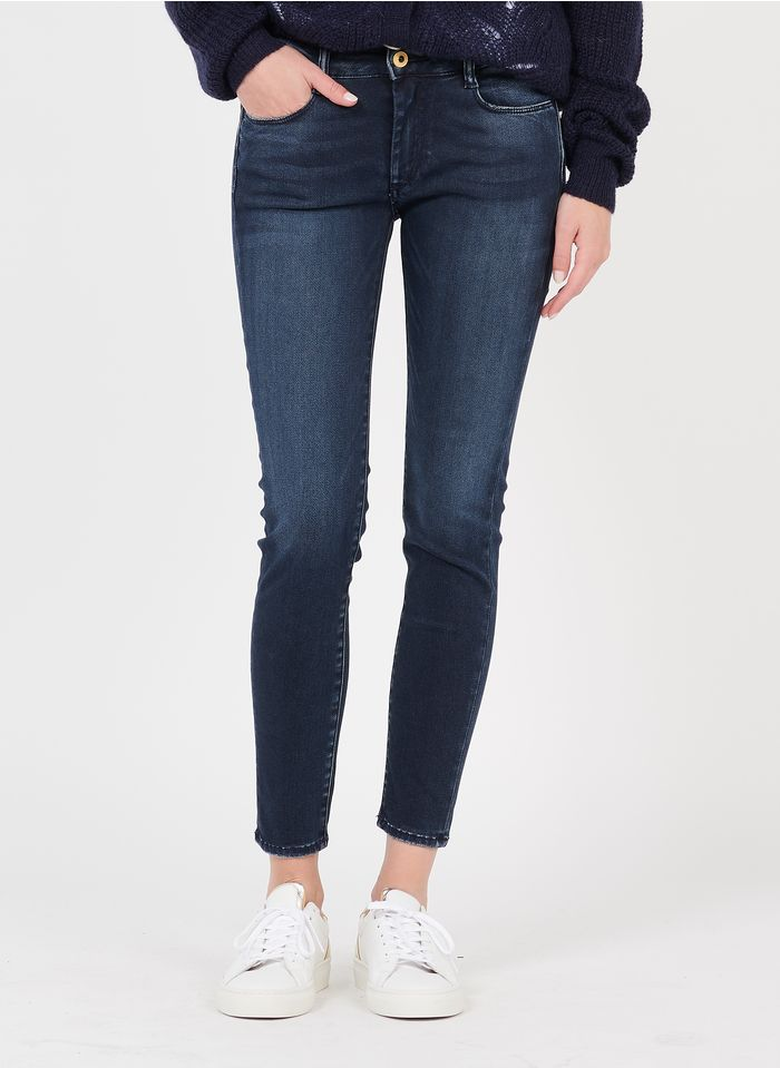 LE TEMPS DES CERISES Skinny Stretch-Jeans in Stone-bleached Jeans