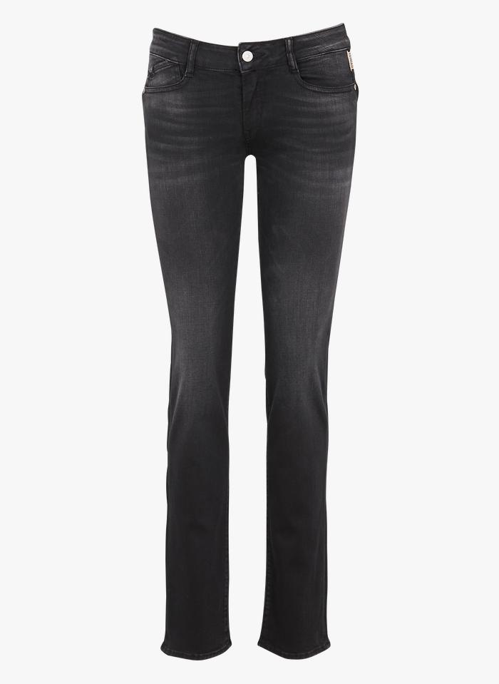 LE TEMPS DES CERISES Straight Cut Jeans in Schwarz