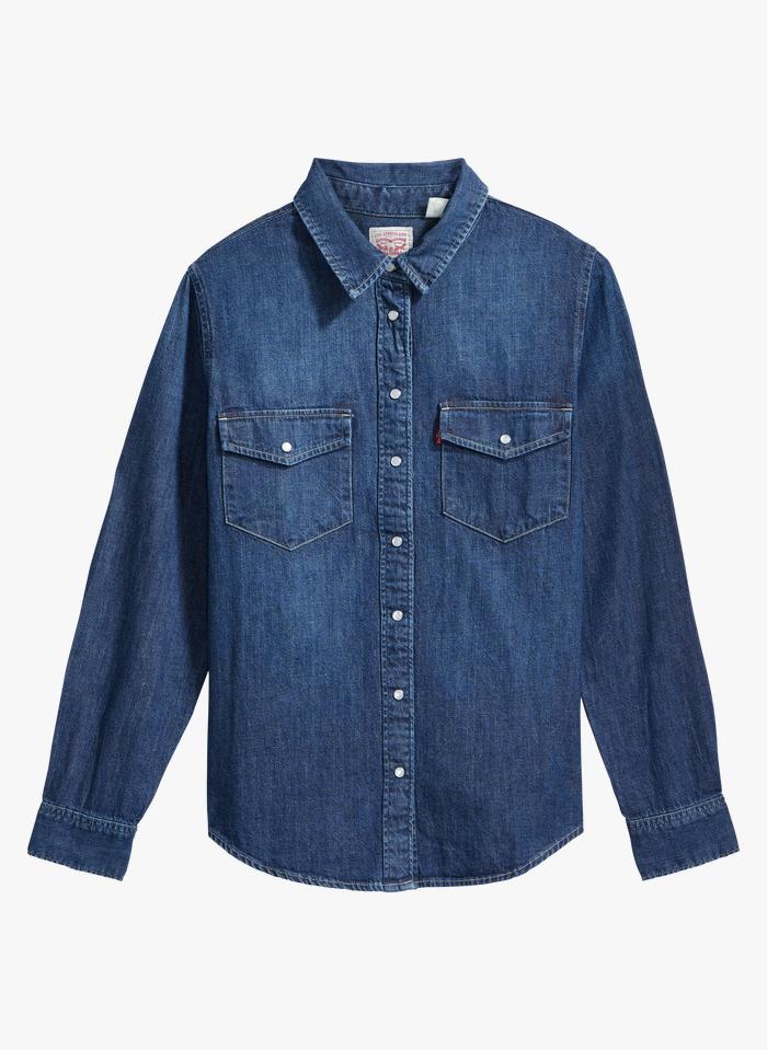 LEVI'S Jeanshemd mit klassischem Kragen in Jeans ohne Waschung