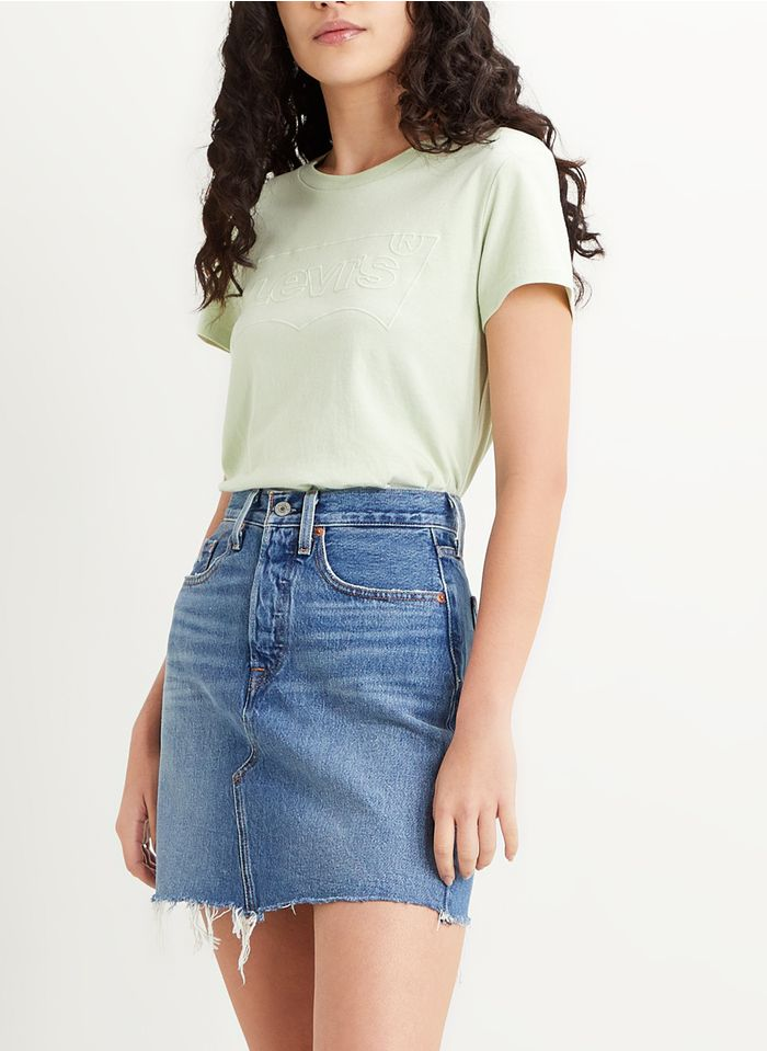 LEVI'S Kurzer Jeansrock mit hohem Bund in Bleached Jeans