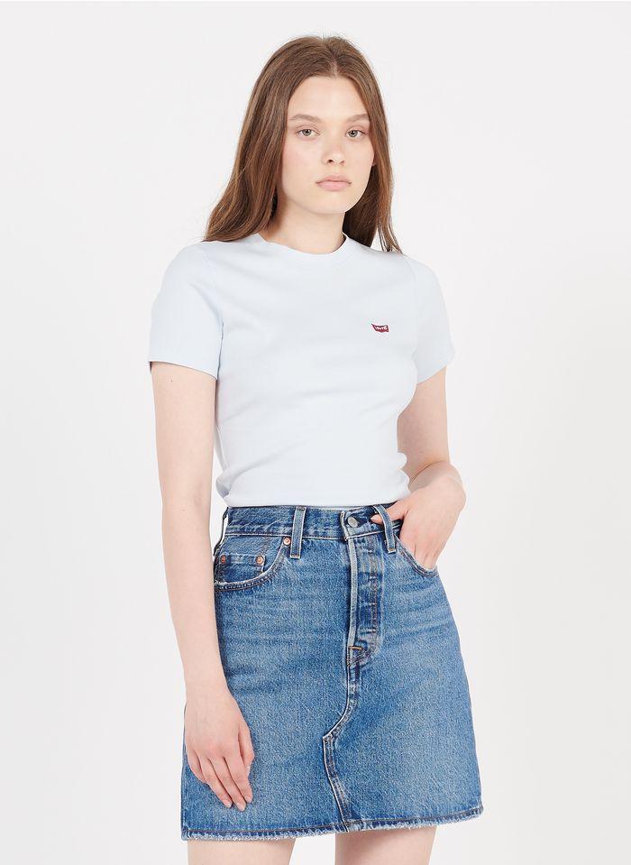 LEVI'S Rundhals-T-Shirt aus Baumwolle mit Siebdruck in Blau