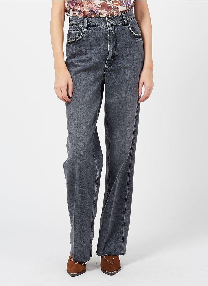 LIU JO Mom-Jeans aus Bio-Baumwolle mit hohem Bund in Grau
