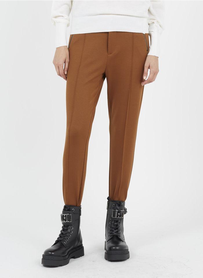 LIU JO Skinny-Stretchhose mit Elastikbund in Braun