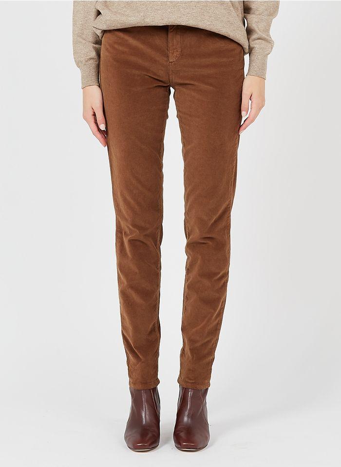 LIU JO Slim-Fit-Taillenhose aus Baumwoll-Mix in Braun