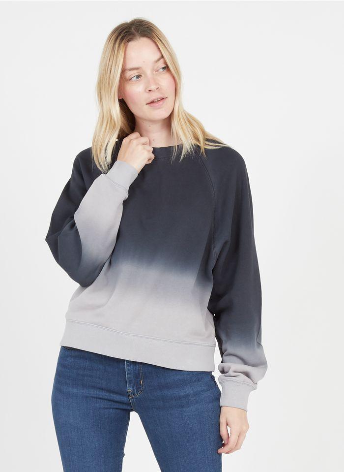 MARC O'POLO Rundhals-Sweatshirt aus Baumwolle in Batik-Optik in Mehrfarbig