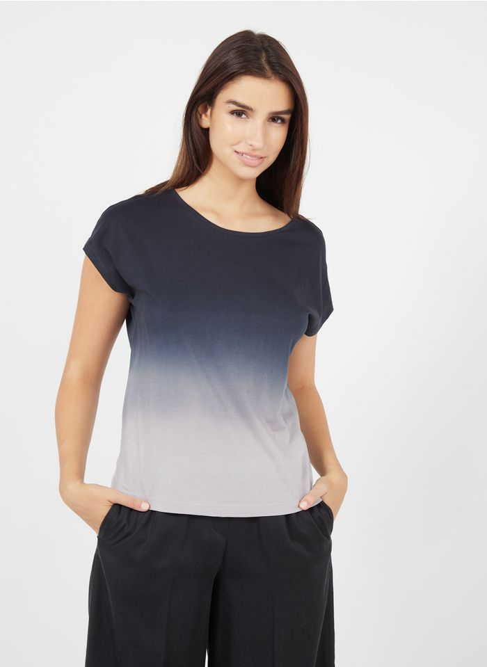 MARC O'POLO Rundhals-T-Shirt aus Baumwolle in Stone-Washed-Optik in Mehrfarbig