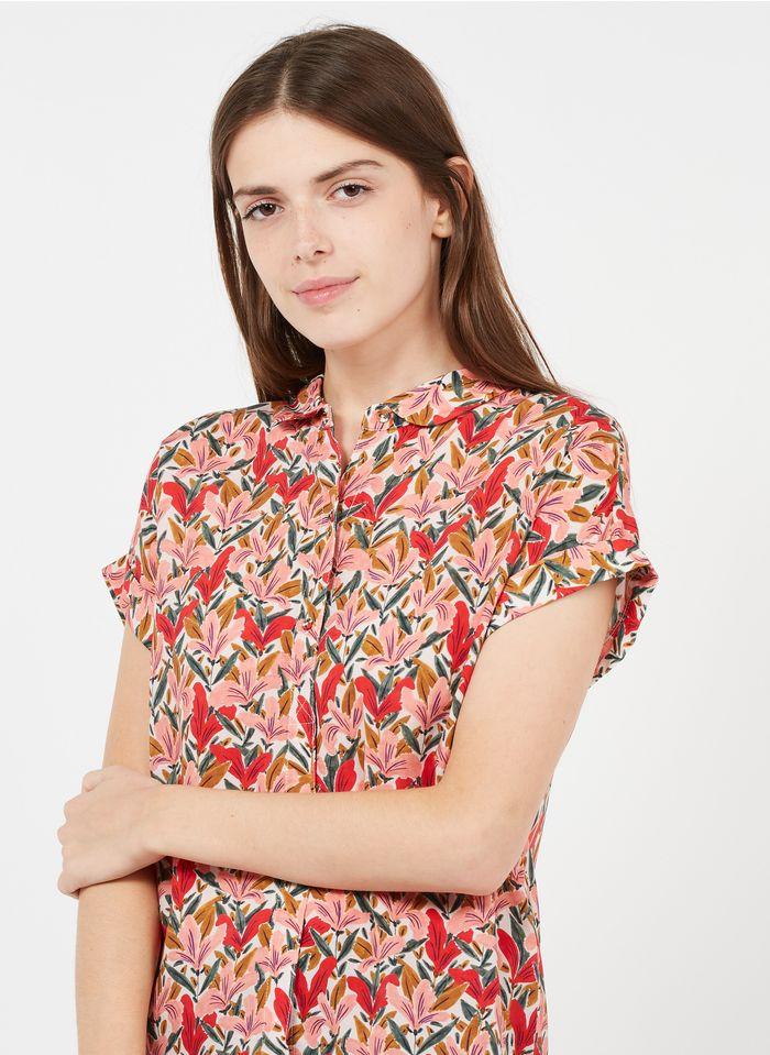 MARIE SIXTINE Geblümte Bluse mit Bubikragen in Mehrfarbig
