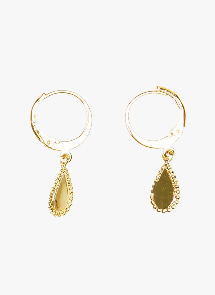 MILA CREATION Tropfenförmige Ohrringe aus vergoldetem Metall in Golden