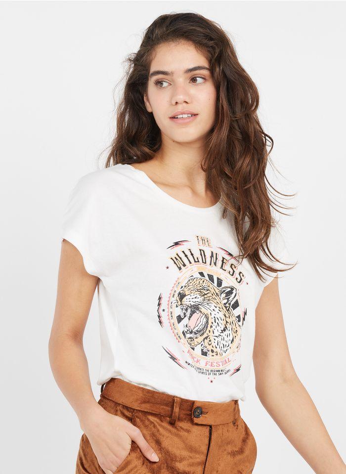 MKT Rundhals-T-Shirt aus Bio-Baumwolle mit Siebdruck in Mehrfarbig