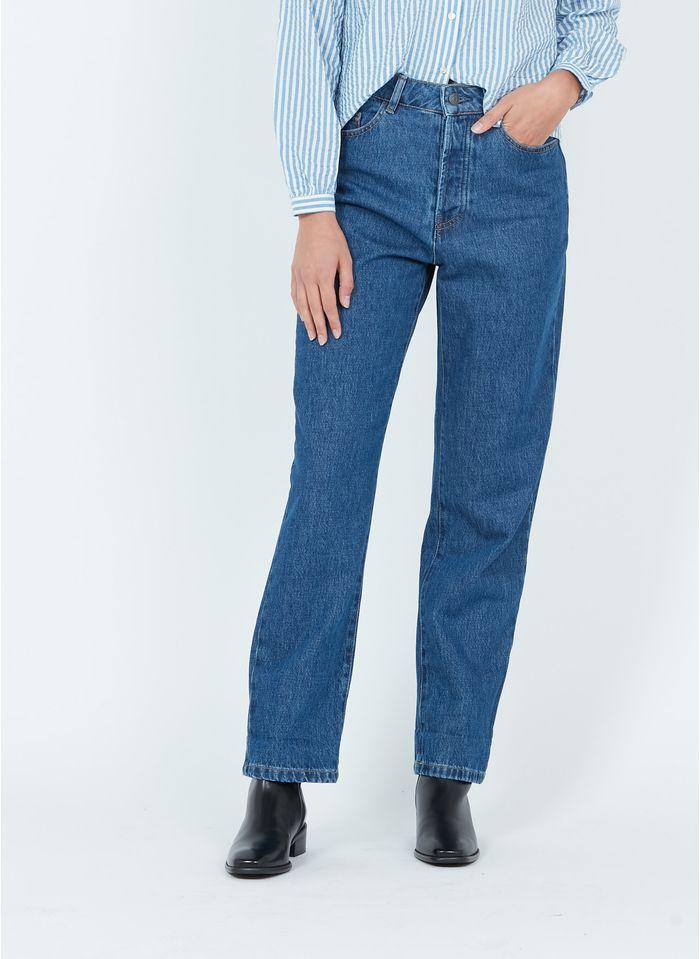 NAF NAF Straight Cut Jeans aus Stretch-Baumwolle in Blau