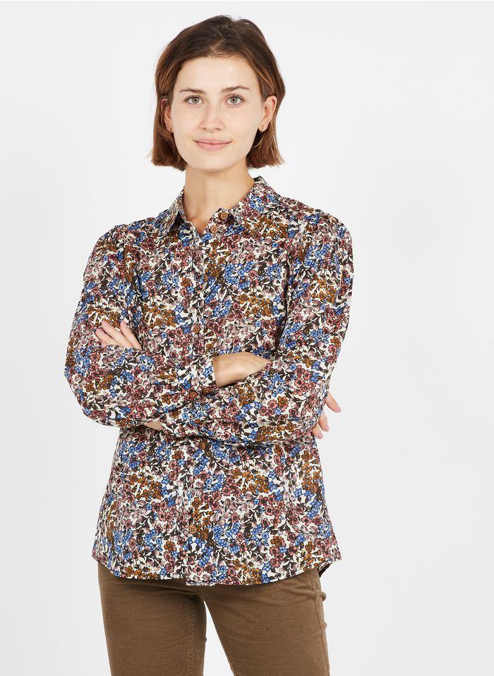OBJECT Bluse aus Bio-Baumwolle mit klassischem Kragen in Beige