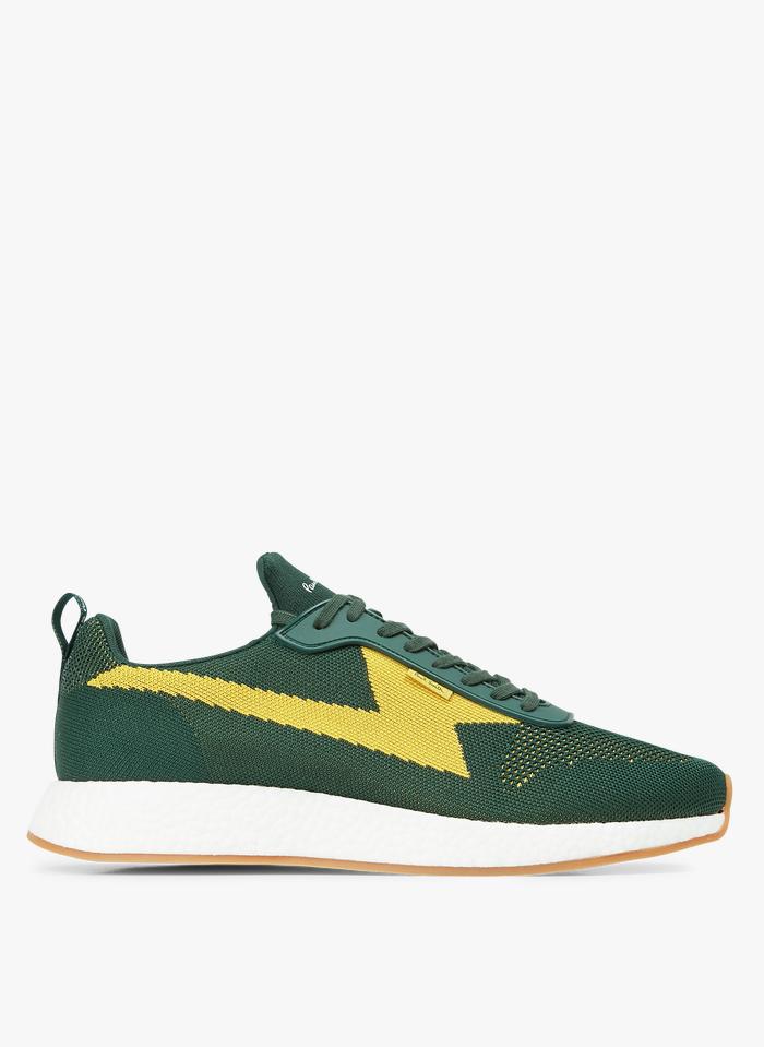 PAUL SMITH Niedrige Canvas-Sneaker in Grün
