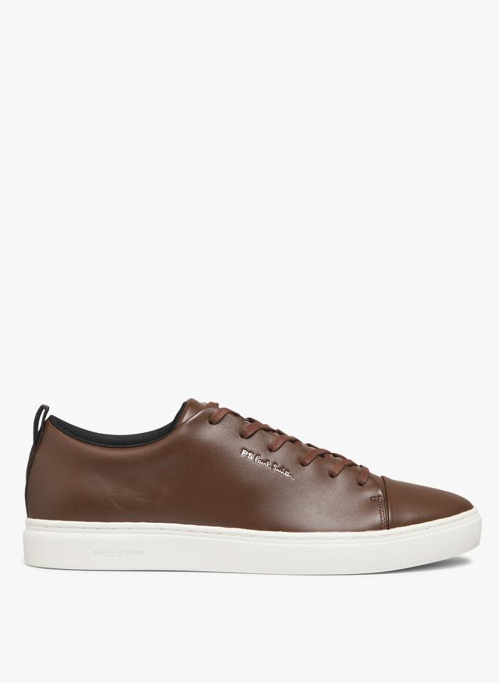 PAUL SMITH Niedrige Ledersneaker in Braun