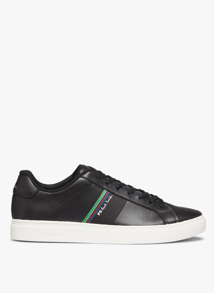 PAUL SMITH Niedrige Ledersneaker in Schwarz