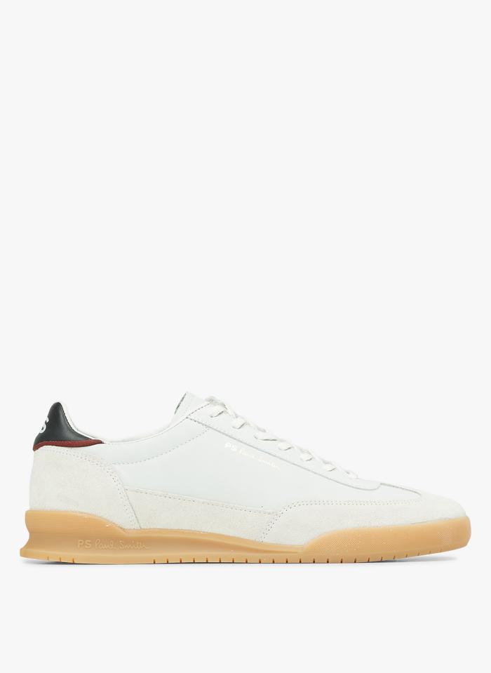 PAUL SMITH Niedrige Ledersneaker in Weiß