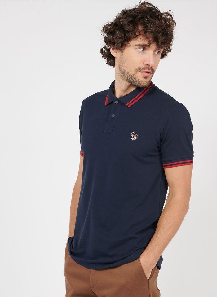 PAUL SMITH Poloshirt aus Baumwolle mit klassischem Kragen, Regular Fit in Blau
