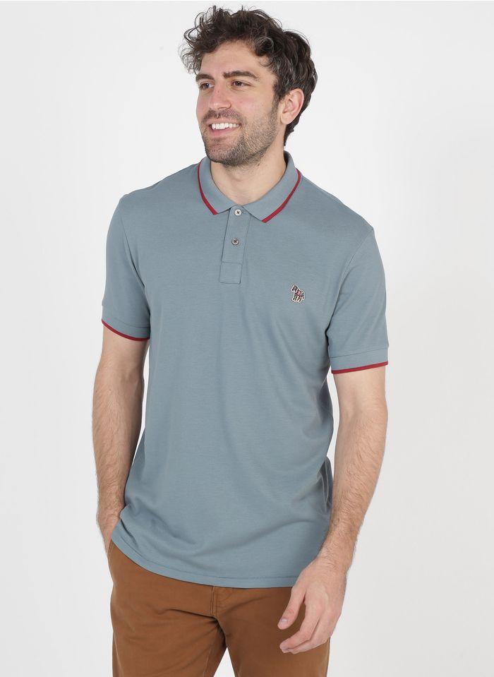 PAUL SMITH Poloshirt aus Baumwolle mit Stickerei, Slim Fit in Blau