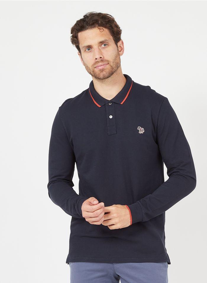 PAUL SMITH Poloshirt aus Baumwolle, Regular Fit in Blau