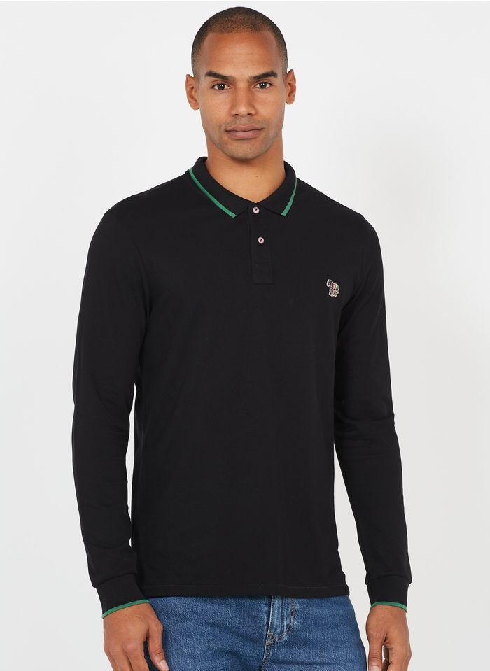 PAUL SMITH Poloshirt aus Baumwolle, Regular Fit in Schwarz