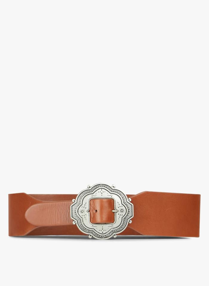 PETITE MENDIGOTE Ledergürtel mit Schnalle in Braun