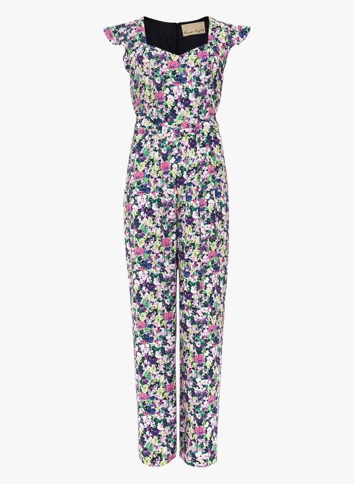 PHASE EIGHT Jumpsuit mit Blumenprint in Mehrfarbig