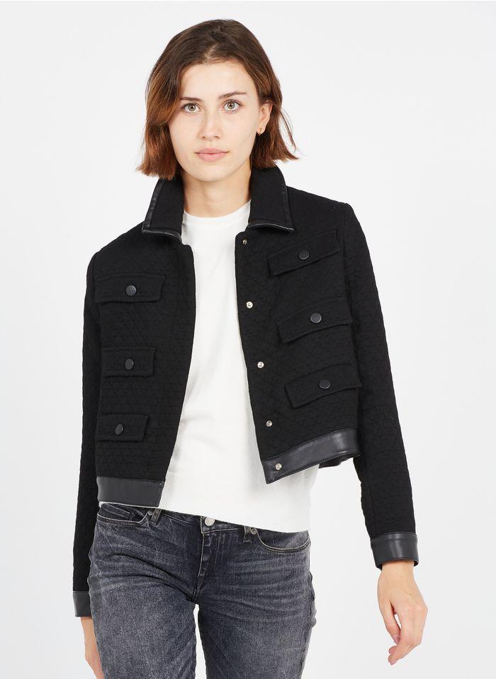PINKO Jacke mit klassischem Kragen in Schwarz