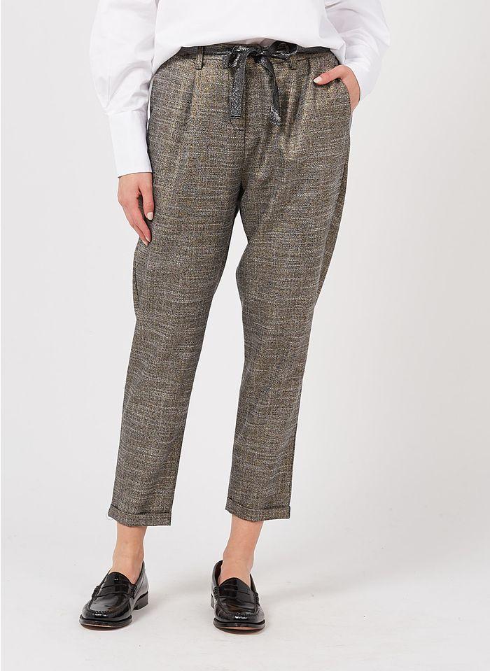 PLEASE Gerade geschnittene Hose mit Metallic-Faser in Mehrfarbig