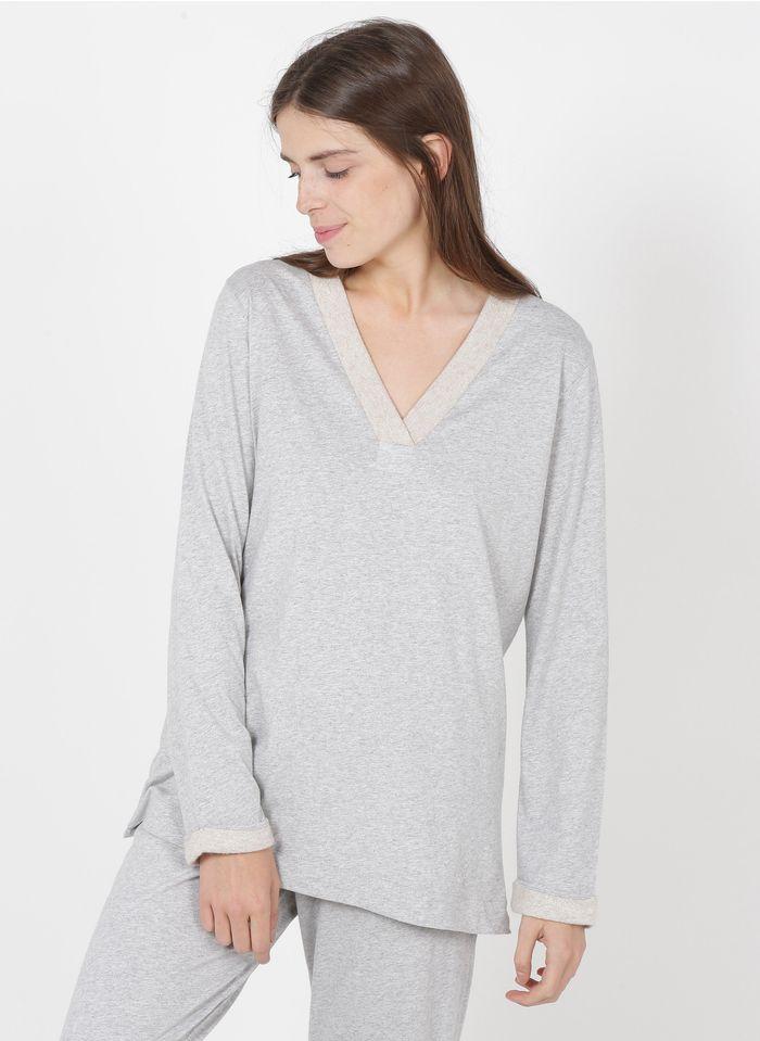 PLUTO Pyjama aus Baumwolle in Grau