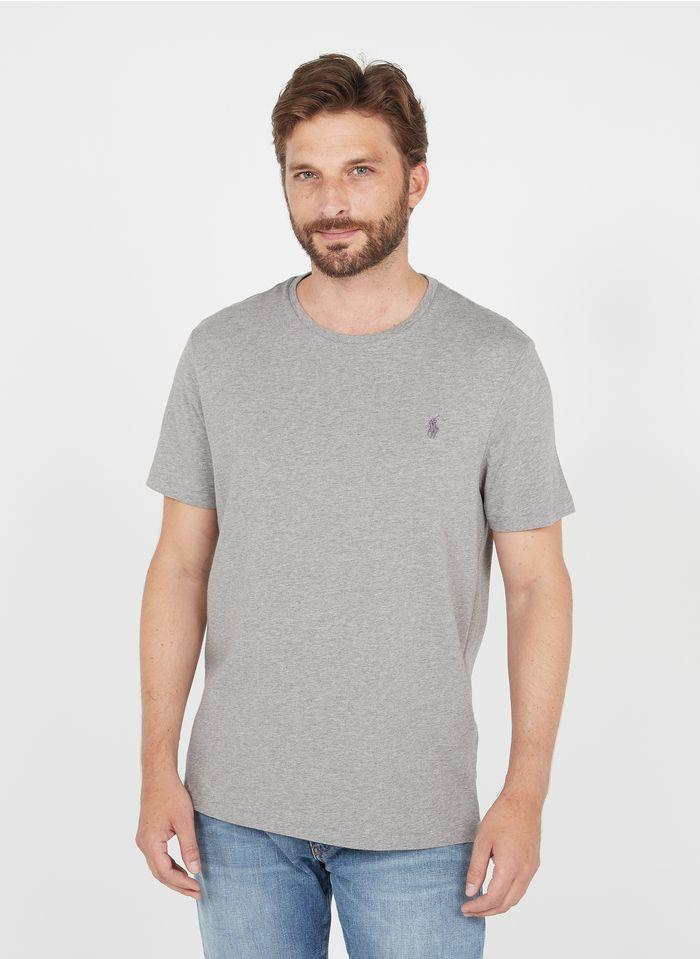 POLO RALPH LAUREN Rundhals-T-Shirt aus Baumwolle, Slim Fit in Grau