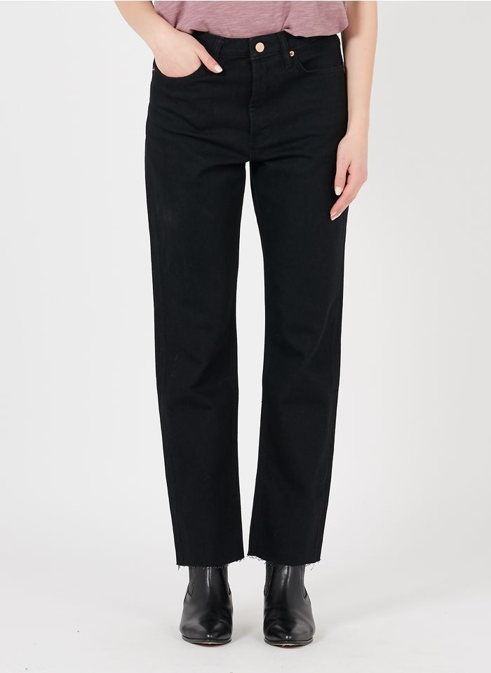 REIKO Cropped Jeans aus Bio-Baumwolle in Schwarz