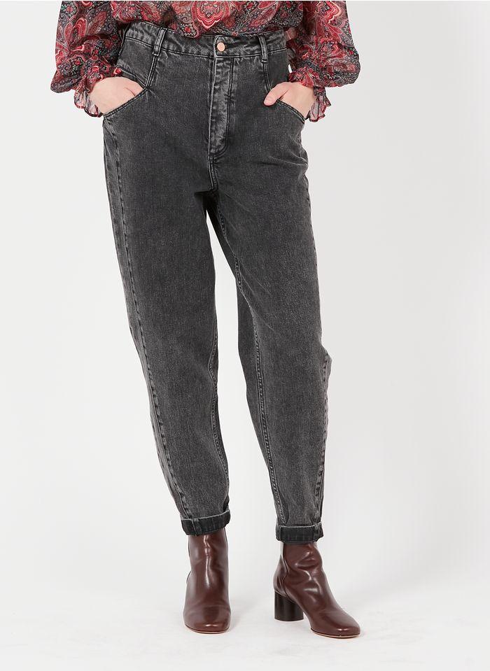 REIKO High Waist Boyfriend Jeans in Grau