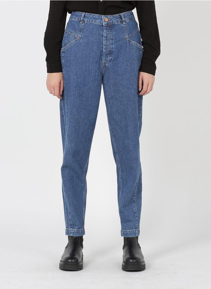 REIKO High Waist Boyfriend Jeans in Jeans ohne Waschung