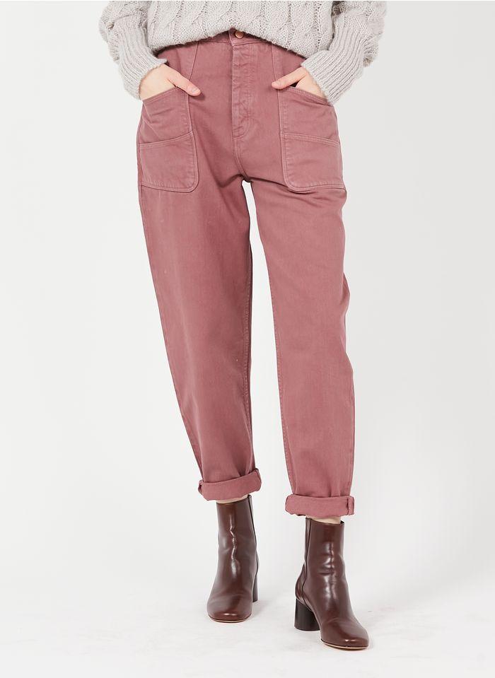 REIKO Loose Fit-Jeans High Waist aus Bio-Baumwolle in Violett