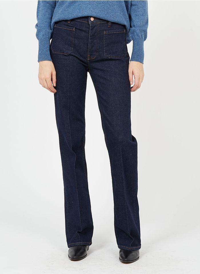 REIKO Parka aus Baumwolle in Jeans ohne Waschung