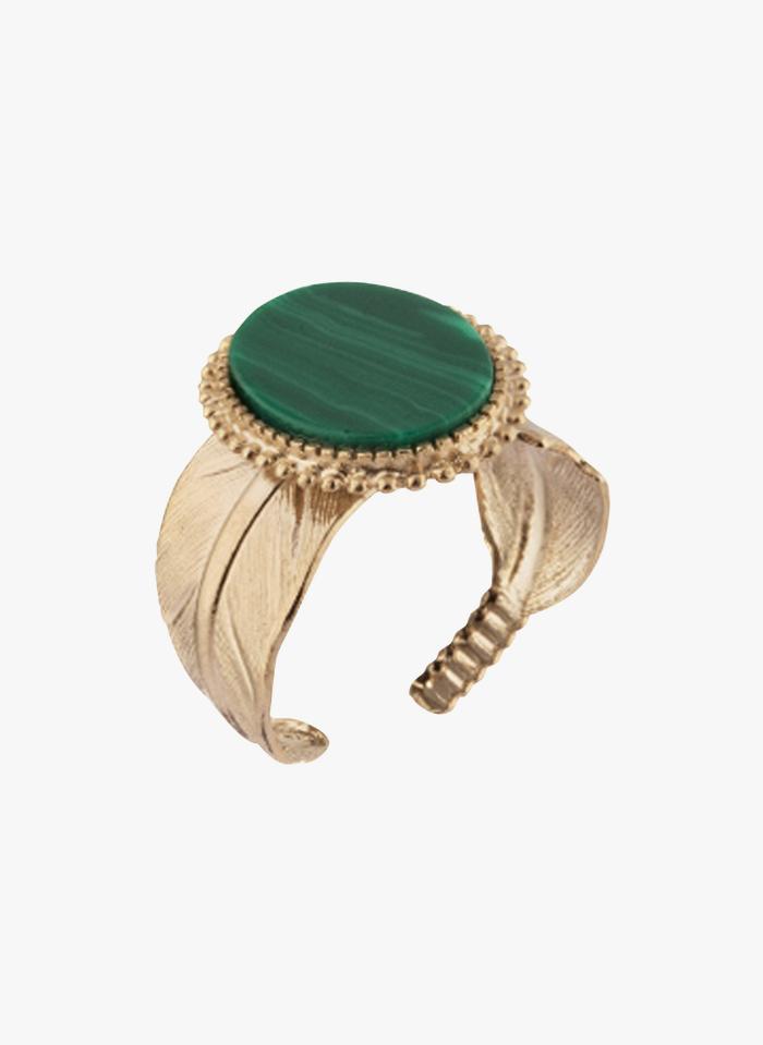 SATELLITE PARIS Verstellbarer Ring mit Stein in Violett