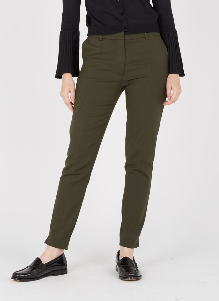 SELECTED Taillenhose, Slim Fit in Grün