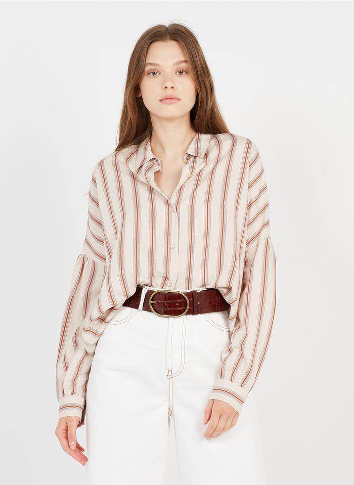 SESSUN Gestreifte Bluse mit klassischem Kragen in Mehrfarbig