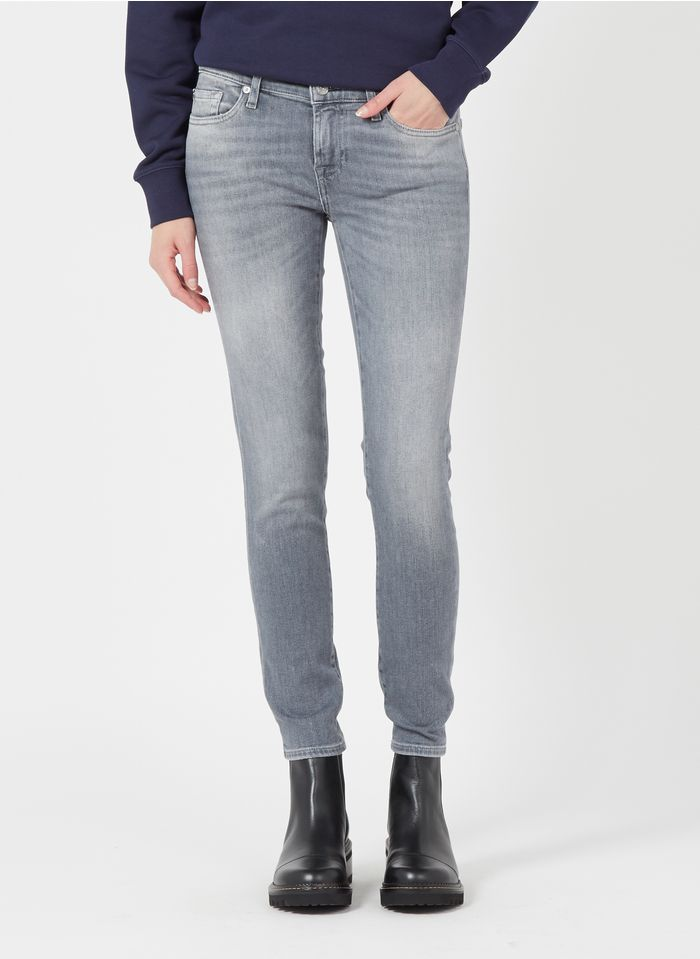 7 FOR ALL MANKIND Slimfit-Jeans in Grau