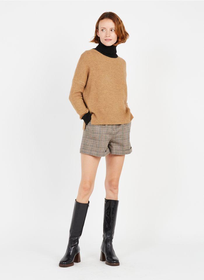 STELLA FOREST Karierte Shorts in Beige