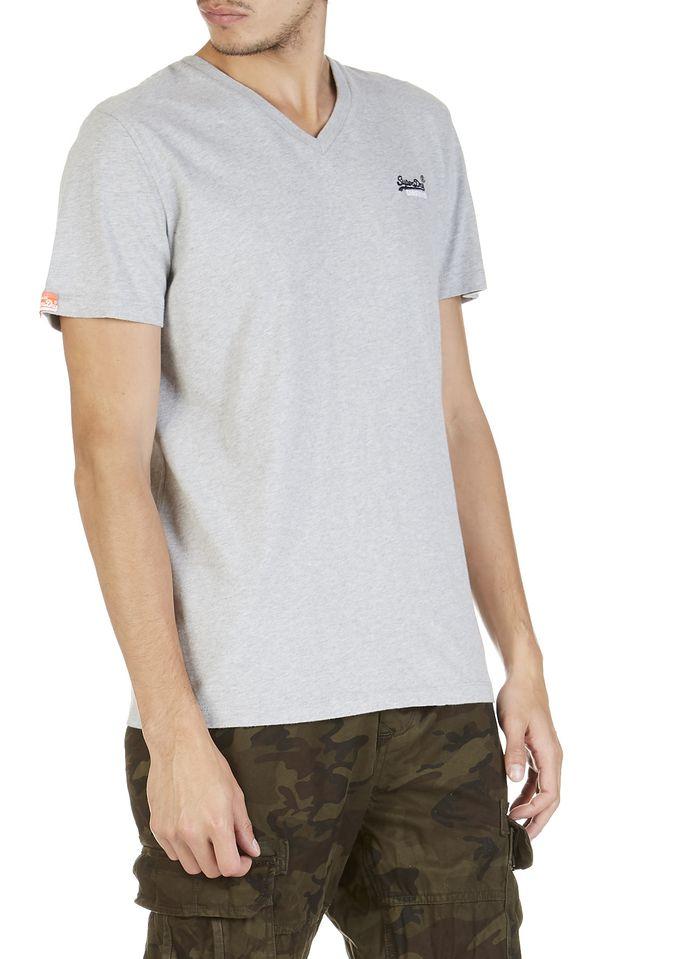 SUPERDRY Baumwoll-T-Shirt in Grau