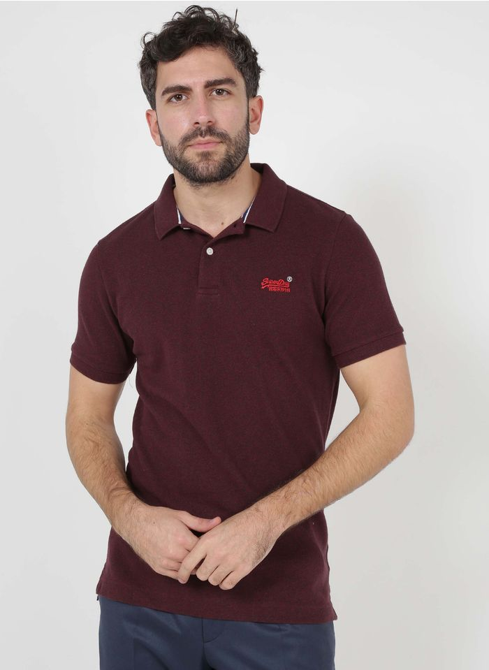 SUPERDRY Poloshirt aus Bio-Baumwolle, Regular Fit in Rot