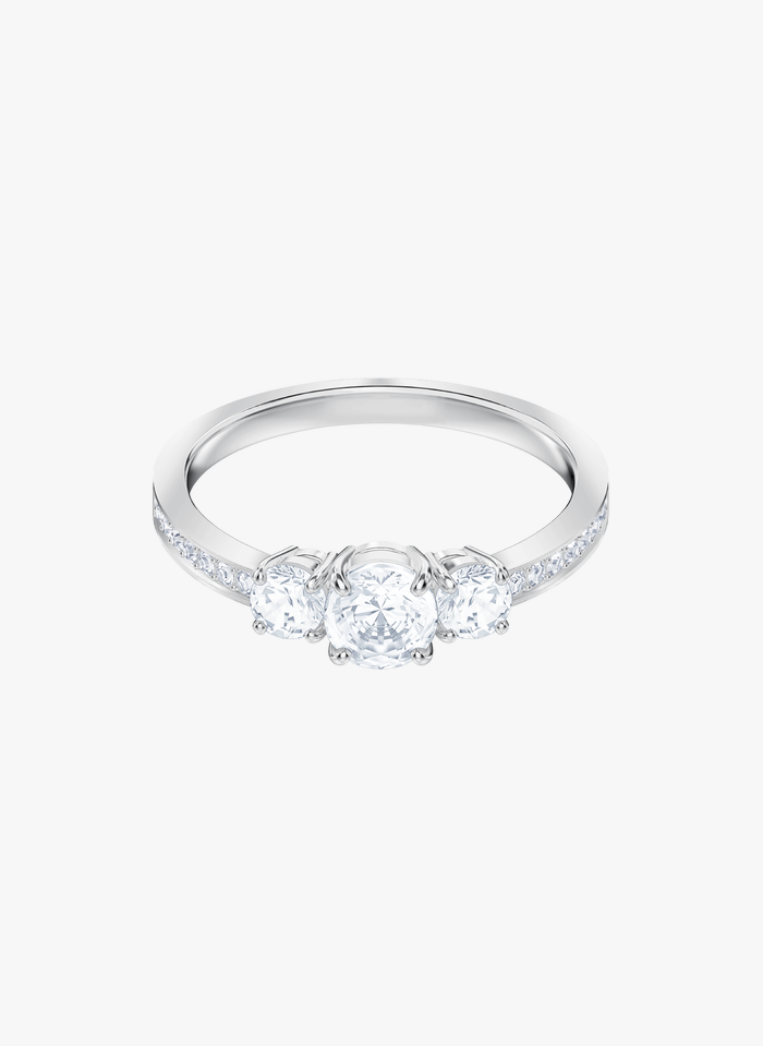 SWAROVSKI Attract Trilogy Round - Ring in Silber