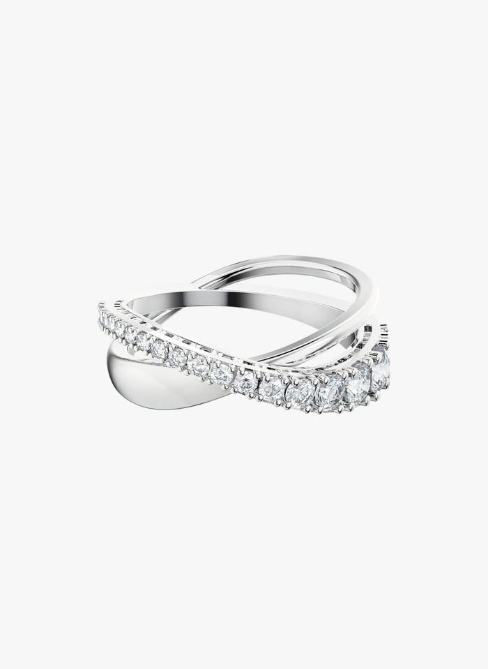SWAROVSKI Spiralförmig eingefasster Ring in Weiß