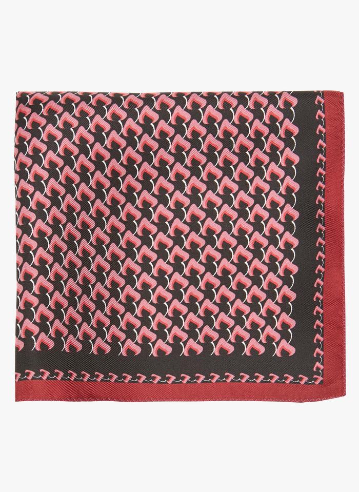 TARA JARMON Taschentuch aus Seide mit Print in Schwarz