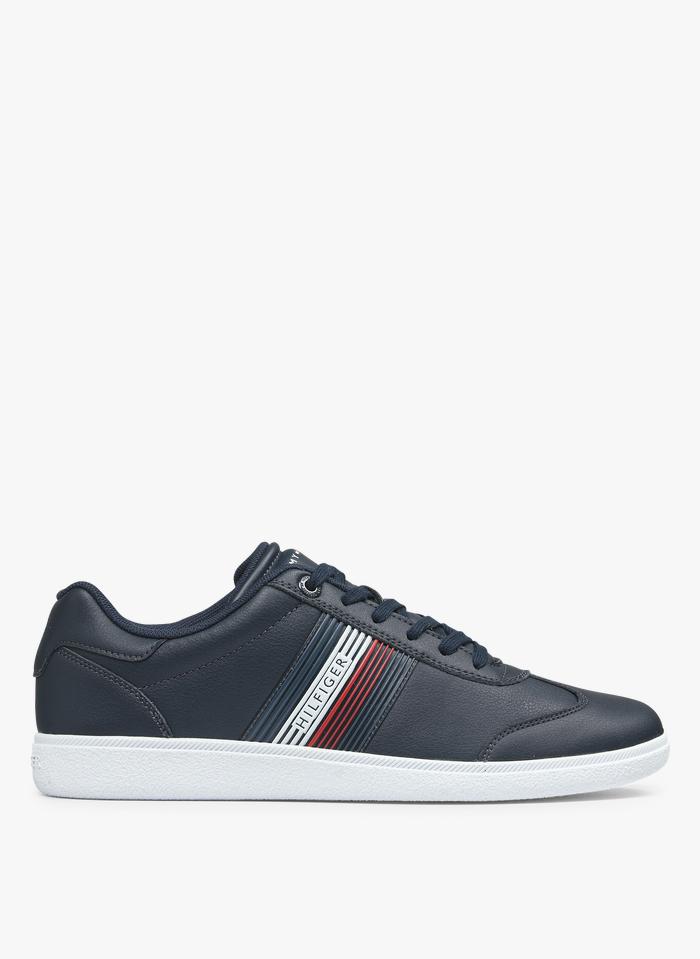 TOMMY HILFIGER Niedrige Sneaker aus Leder-Mix in Blau