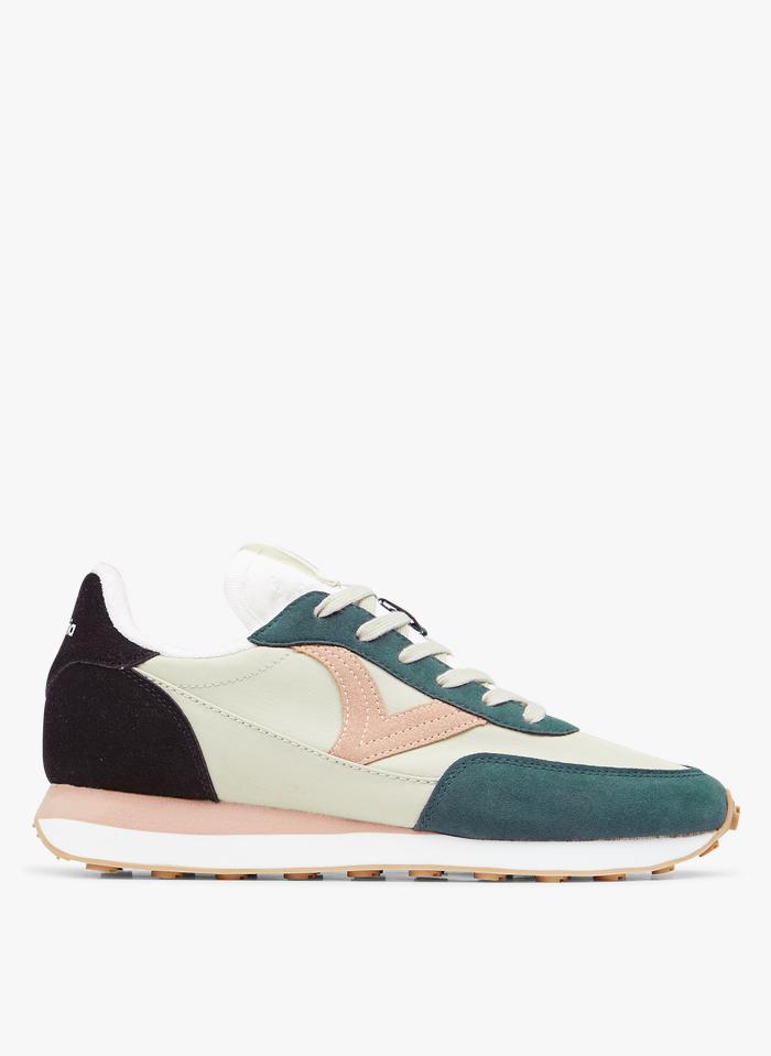 VICTORIA Mehrfarbige Sneaker aus Nylon in Grün