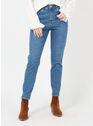 VILA Medium Blue Denim Bleached Jeans