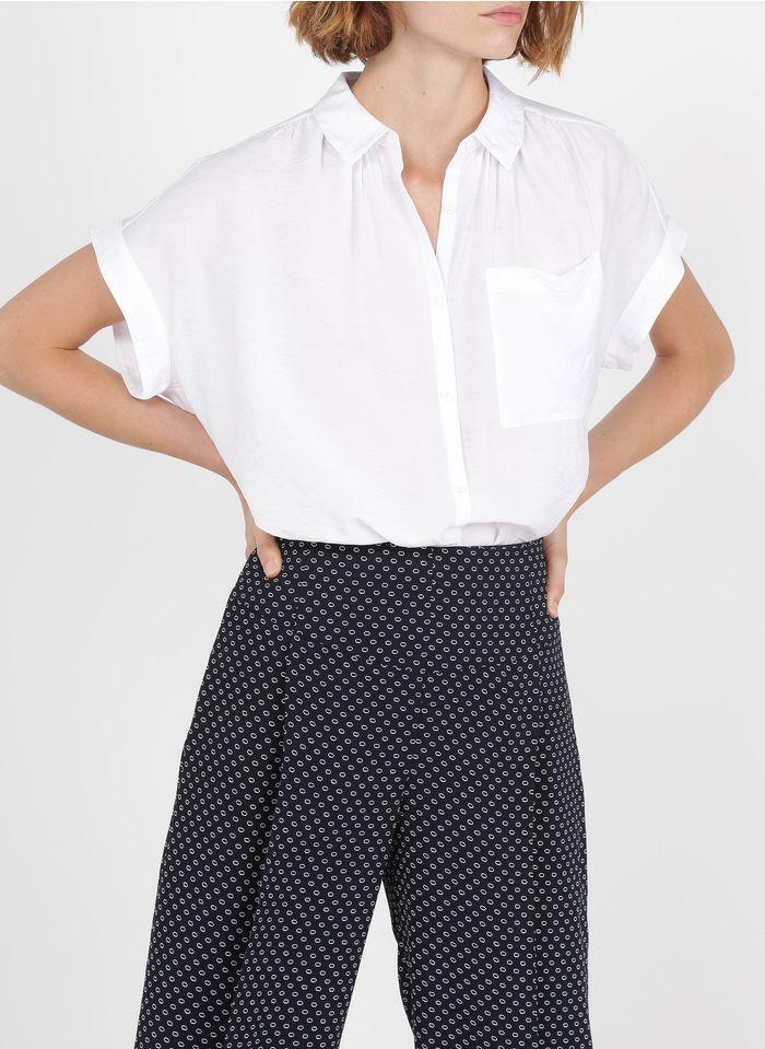 WHISTLES Oversize-Bluse mit klassischem Kragen in Weiß