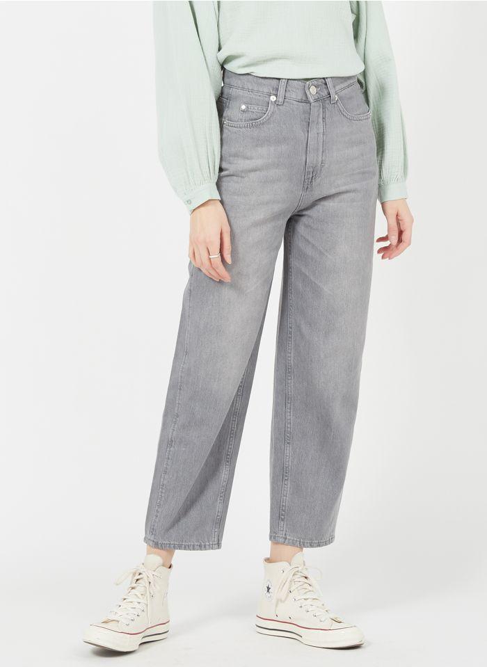WHISTLES Straight Cut Jeans aus Baumwolle in Grau