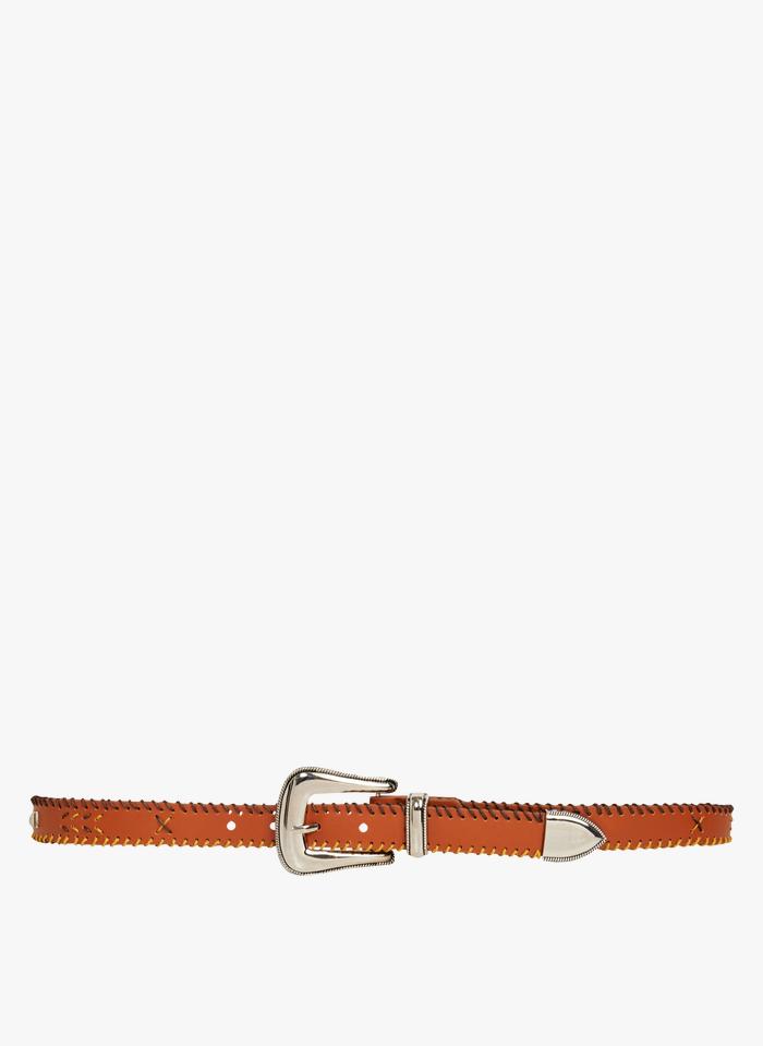 WILD Geflochtener Ledergürtel mit Schnalle in Braun